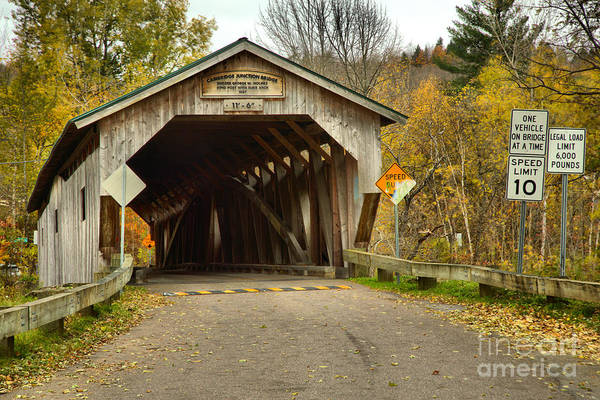 Photograph - Historic Cambridge Junction Covered Bridge by Adam Jewell
