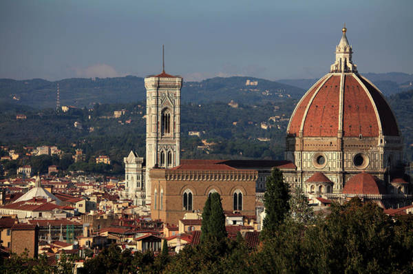 Duomo Photograph - Historic Center With Florence Cathedral by Bruce Yuanyue Bi