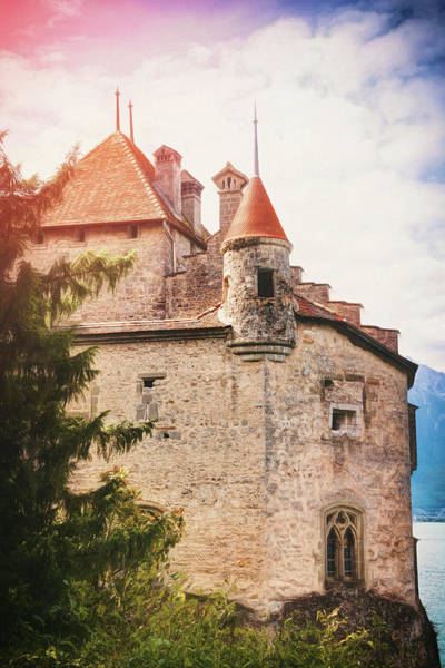 Schloss Wall Art - Photograph - Historic Chillon Castle Montreux Switzerland by Carol Japp