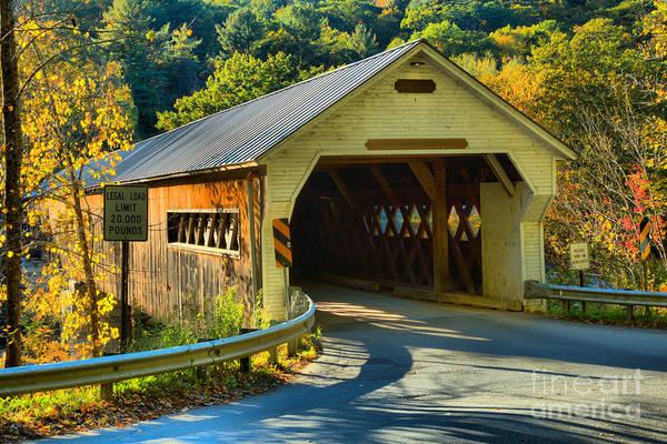 Photograph - Historic Dummerston Covered Bridge by Adam Jewell