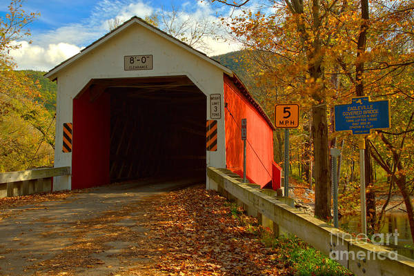 Photograph - Historic Eagleville Covered Bridge by Adam Jewell