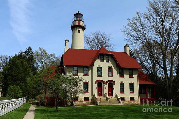 Wall Art - Photograph - Historic Grosse Point Lighthouse by Christiane Schulze Art And Photography