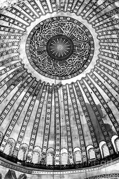 Sophia Photograph - Historic Hagia Sophia Ceiling Istanbul by John Rizzuto