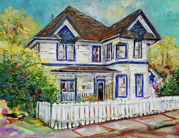 Wall Art - Painting - Historic Mckinney House Portrait by Kim Guthrie