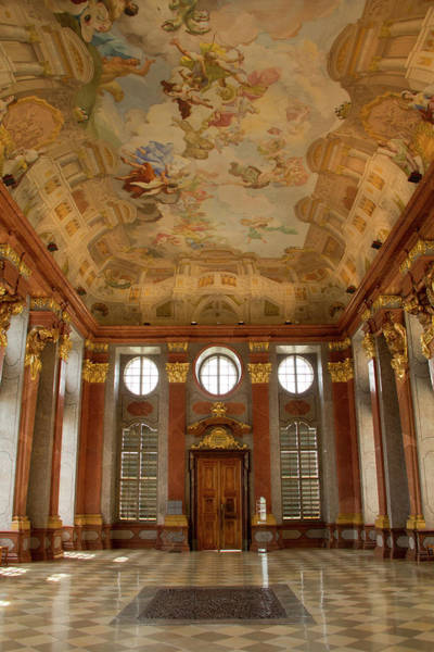 Tile Floor Wall Art - Photograph - Historic Melk Abbey In Austria by David Epperson