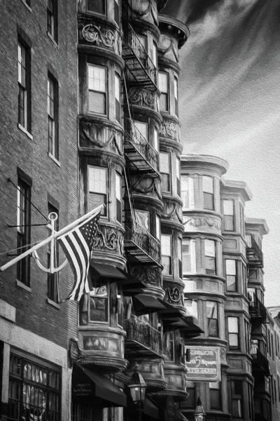 Wall Art - Photograph - Historic North End Boston Massachusetts Black And White  by Carol Japp