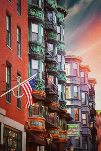 Neighborhood Photograph - Historic North End Boston Massachusetts by Carol Japp