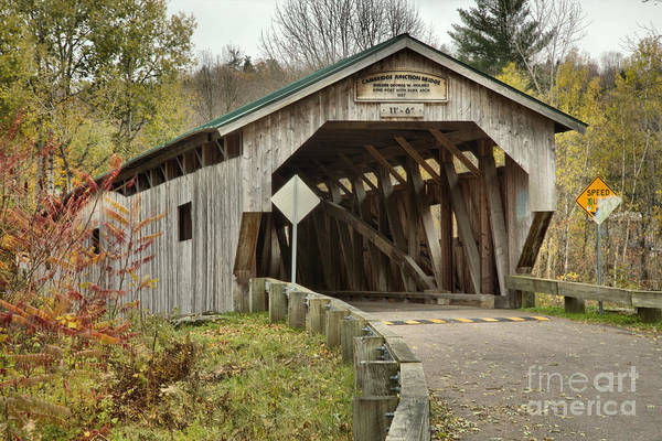 Photograph - Historic Poland Covered Bridge by Adam Jewell