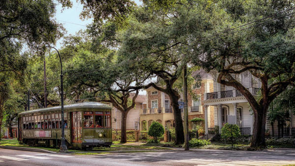 Photograph - Historic St. Charles Streetcar by Susan Rissi Tregoning