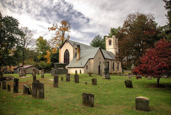 Photograph - Historic St. James Episcopal Church In Hyde Park Ny  by Harriet Feagin