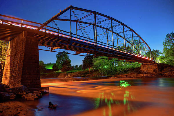 Photograph - Historic Steel Bridge Over War Eagle Creek by Gregory Ballos