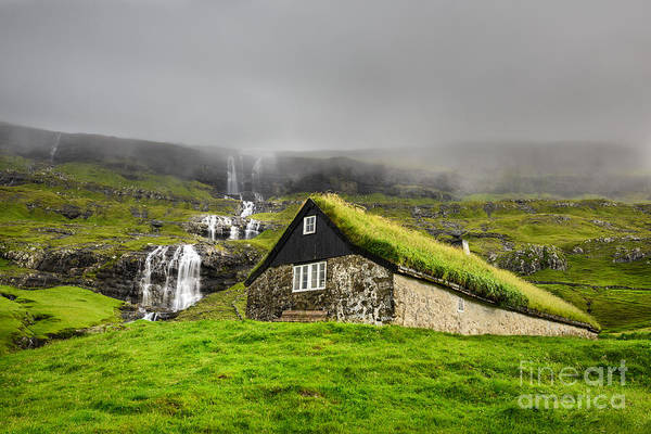 Wall Art - Photograph - Historic Stone House With Turf Roof On by Nick Fox