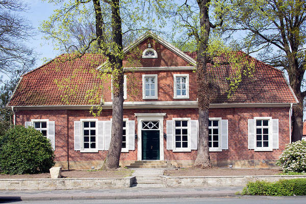 Wall Art - Photograph - Historic Town House Classicism Georgstrasse Lingen Emsland Lower Saxony Germany by imageBROKER - Thomas Robbin