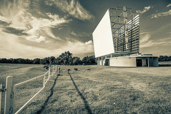 Photograph - Historic Tulsa Admiral Twin Drive-in - Sepia Edition by Gregory Ballos
