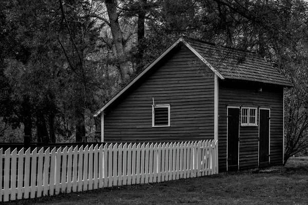 Photograph - Historic Walnford Shed Bw by Susan Candelario