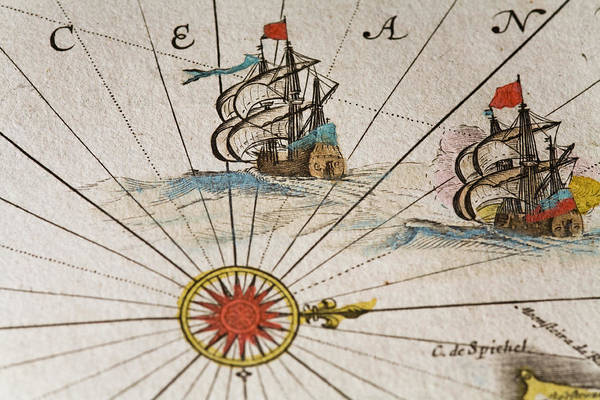 18th Century Digital Art - Historical Ships by Goldhafen