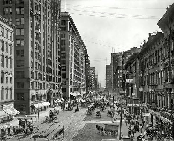 Wall Art - Photograph - Historical State Street - Chicago C. 1900 by Daniel Hagerman