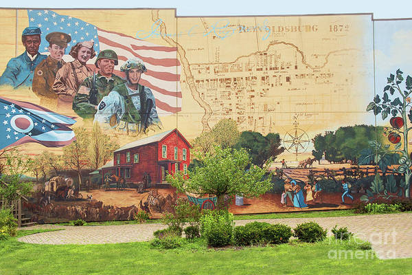 Wall Art - Photograph - Historical Wall Mural Reynoldsburg Ohio by Sharon McConnell