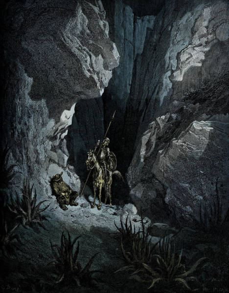 Wall Art - Painting - History Of Don Quixote By Cervantes by Gustave Dore
