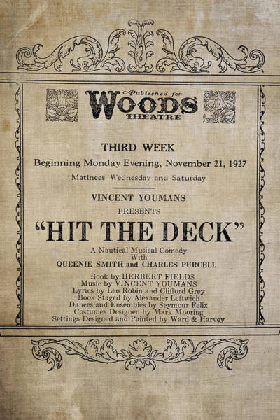 Word Play Photograph - Hit The Deck by Alison Sherrow I AgedPage