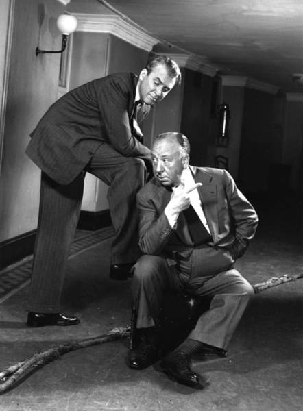 Photograph - Hitchcock And Stewart by Baron