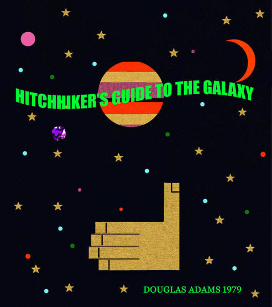 Wall Art - Digital Art - Hitchhikers Guide To The Galaxy Minimal Book Cover Art by David Lee Thompson