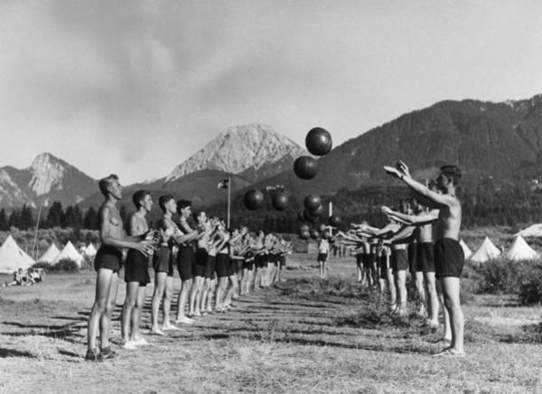 Teenager Photograph - Hitler Youth by Keystone