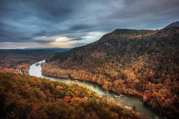 Photograph - Hiwassee River Sunlight In Storm by Steven Llorca
