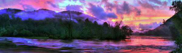 Photograph - Hiwassee River Sunset Pano by Dennis Sprinkle