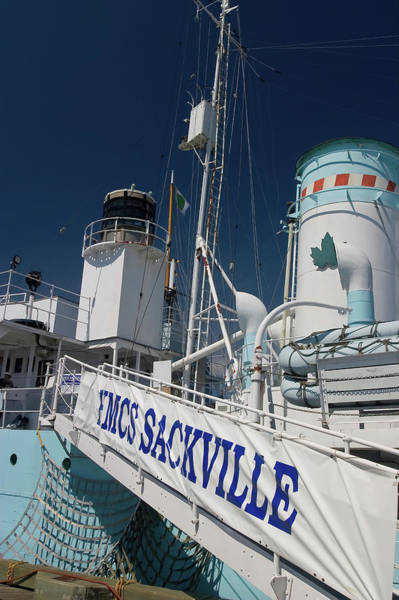 Wall Art - Photograph - Hmcs Sackville Ship In Halifax Harbour by David Smith