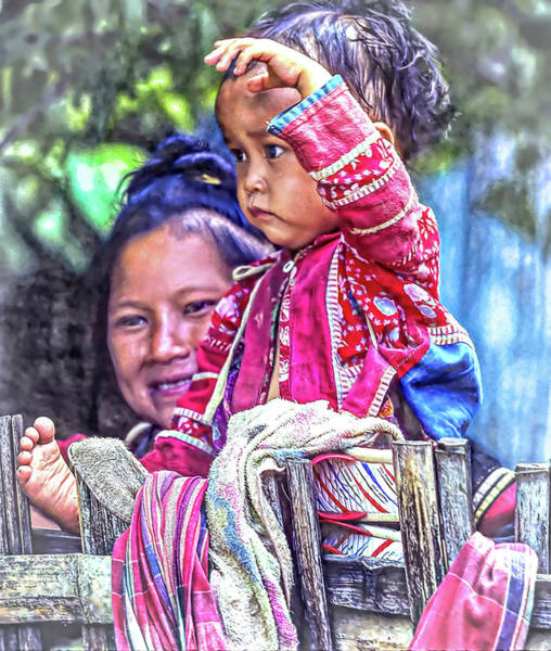 Ethnic Minority Photograph - Hmong Mother And Child - Paint by Steve Harrington