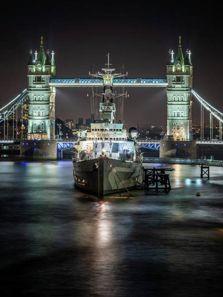 Photograph - Hms Belfast by Framing Places