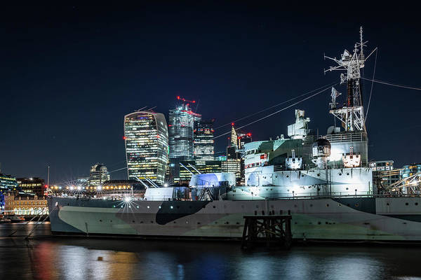 Photograph - Hms Belfast Panorama by Framing Places