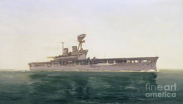 Wall Art - Painting - Hms Eagle, 1922 by Duff Tollemache
