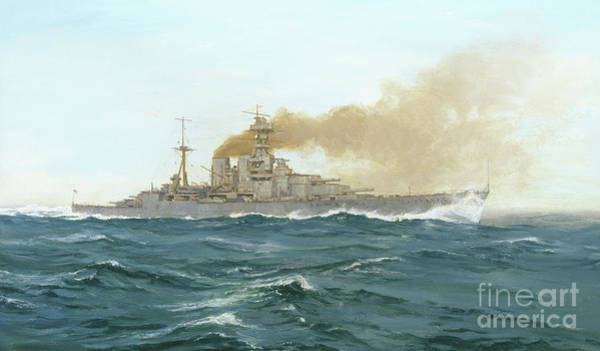 Wall Art - Painting - Hms Hood, 1919  by Duff Tollemache