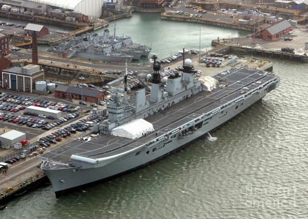 Wall Art - Photograph - Hms Illustrious Portsmouth Naval Base, England 2007 by Glenn Harvey
