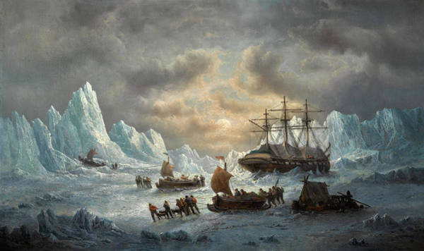 Wall Art - Painting - Hms Resolute In Search Of Sir John Franklin by Francois Musin