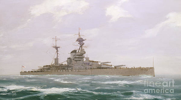 Wall Art - Painting - Hms Resolution, 1923 by Duff Tollemache