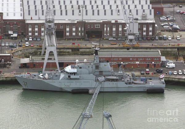 Wall Art - Photograph - Hms Severn Portsmouth Naval Base, England 2007 by Glenn Harvey