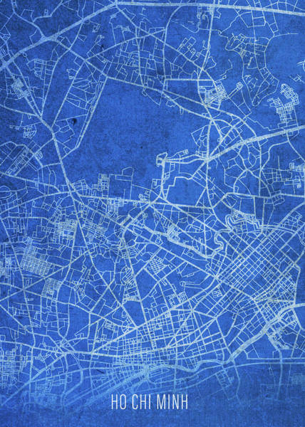 Wall Art - Mixed Media - Ho Chi Minh Vietnam City Street Map Blueprints by Design Turnpike