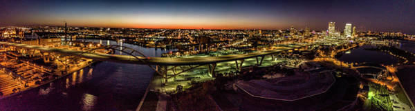 Photograph - Hoan Bridge At Dusk Panorama by Randy Scherkenbach