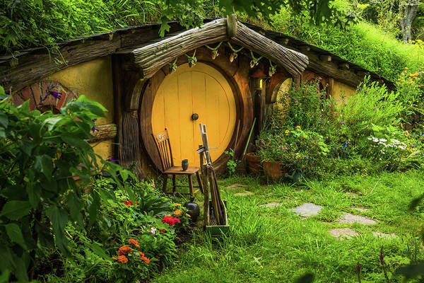 Photograph - Hobbit House - Yellow Door by Racheal Christian