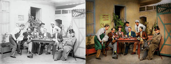 Photograph - Hobby - Gambling - Deal Me In 1905 - Side By Side by Mike Savad