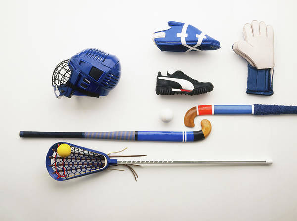 Sport Photograph - Hockey And Lacrosse Equipment by Dave King