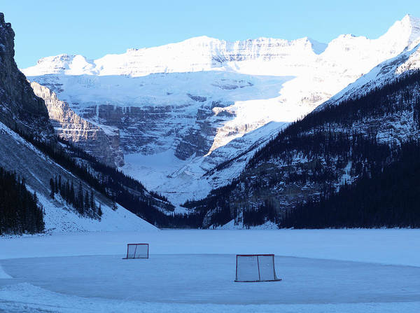 Scenic Photograph - Hockey Net On Frozen Lake by Ascent/pks Media Inc.