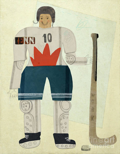 Young Man Wall Art - Digital Art - Hockey Player by Dmitriip