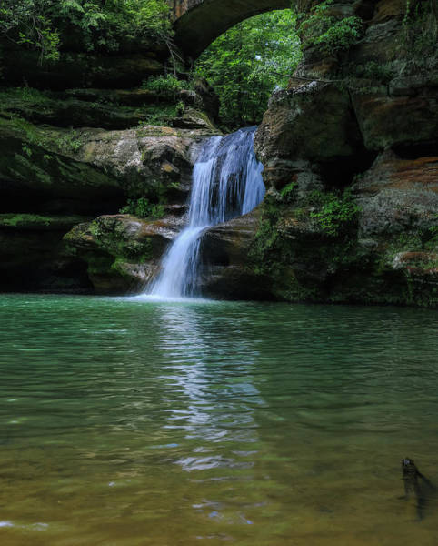 Photograph - Hocking Hills Upper Falls Reflection by Dan Sproul