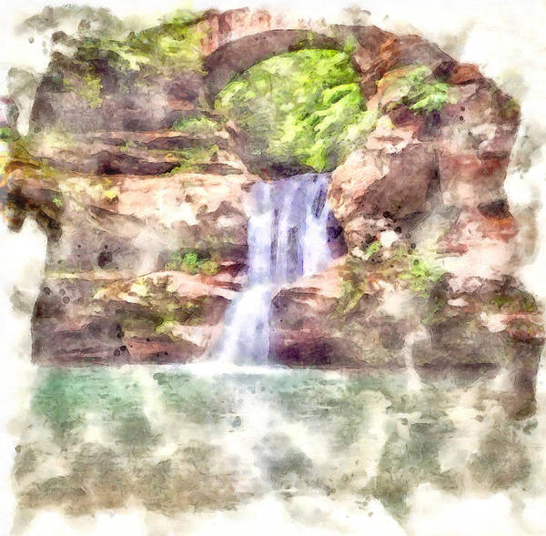 Painting - Hocking Hills Watercolor by Dan Sproul