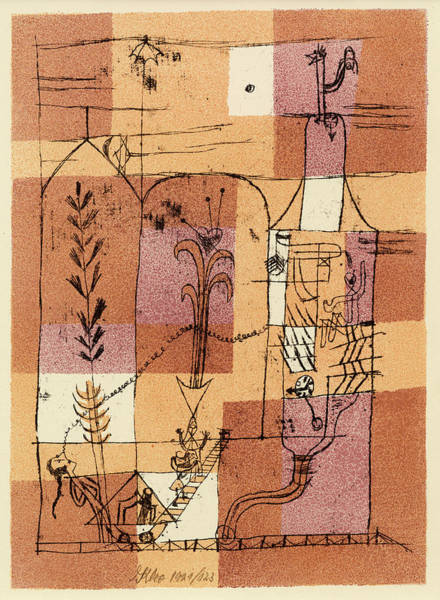 Wall Art - Painting - Hoffmanesque Scene by Paul Klee