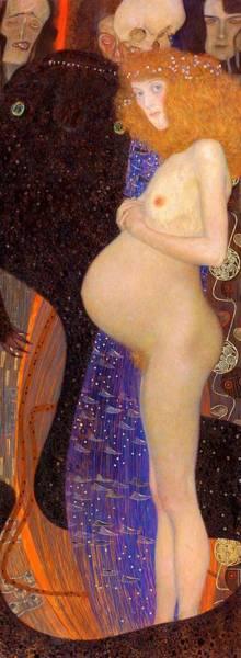 Pregnant Wall Art - Painting - Hoffnung I - Digital Remastered Edition by Gustav Klimt